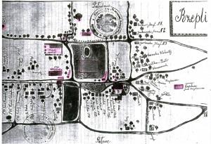 Mapa Rzeplina z roku ok. 1920